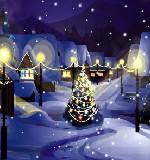 Karácsonyi hóesés (képernyőkímélő) ingyenes letöltése